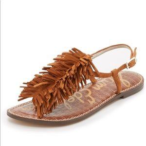 Sam Edelman Gela fringe flat sandals 9